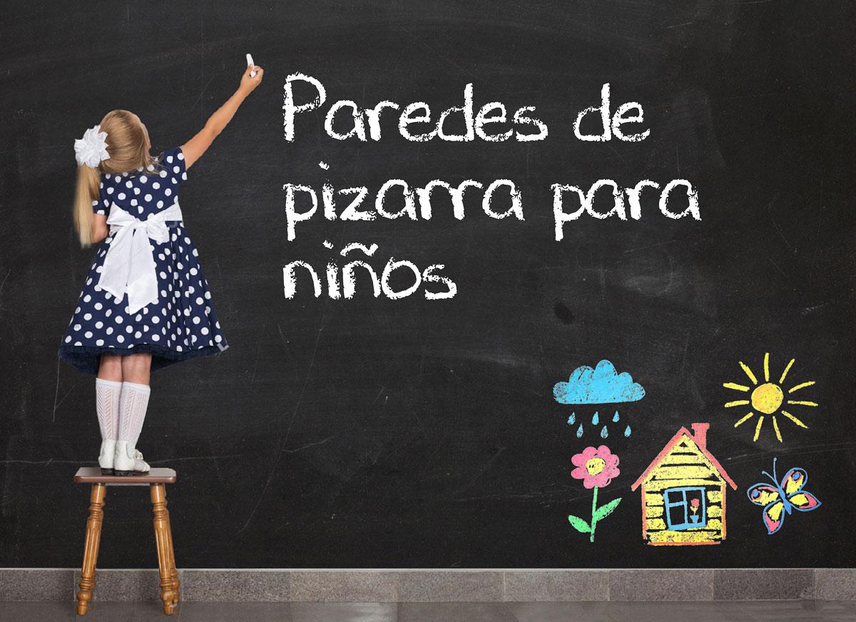 PAREDES DE PIZARRA- DECORACIÓN CREATIVA PARA HABITACIONES INFANTILES-